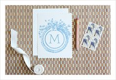 Free Initial Monogram Font -- easy to print on cardstock and frame. Instant art for the bathroom or bedroom!