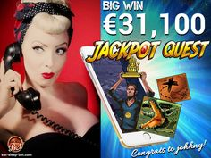 Congratulations to Johnny for winning € 31 just from one spin on Jackpot Quest! Keep it up, buddy! Best Online Casino, Casino Games, Online Games, Spin, Have Fun, Congratulations, Good Things