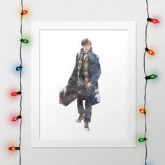 NEWT SCAMANDER PRINT, Fantastic Beasts and Where to Find Them, Newt Print, Hogwarts, Harry Potter Print, Magic, Watercolor, Digital File