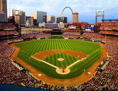 Busch Stadium in St. Louis, Missouri at a St. Louis Cardinals Baseball Game