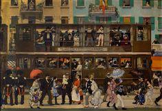 Il Tram di Monza (Un giorno di domenica). Aroldo Bonzagni