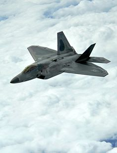 F-22 in the clouds