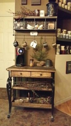 Bakers Rack Coffee Bar Home Inspiration Pinterest Bakers
