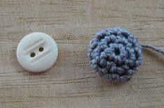Crochet-covered button - free pattern... will be using this in the future FOR SURE!