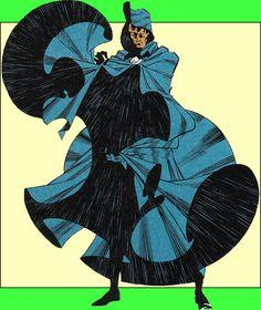 Cloak.  One half of the Cloak and Dagger team.  Art by Rick Leonardi.