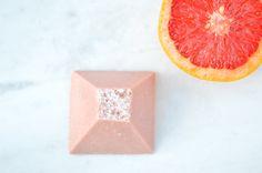 Rose Quartz Spa Stone Sea Salt Soap, Grapefruit, Rose Quartz, Spa, Stone, Rock, Rocks, Pink Quartz, Stones