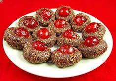 Raw Christmas Cherry Cookies - MyHealthyDessert