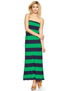 Stripe strapless maxi dress Product Image