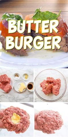 Low Carb Butter Burgers The juiciest burger you've ever had! This keto butter burger recipe had a simple, yet amazing flavor. Grill or pan fry for the best burger recipe ever. You may also love our Cola burgers! Homemade Burger Patties, Making Burger Patties, Homemade Beef Burgers, Burger Meat, Gourmet Burgers, Onion Burger, Best Burger Seasoning, Best Grilled Burgers, Grilling Burgers
