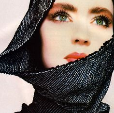 Christian Dior Maquillage, Harper's Bazaar, December 1985. Makeup by Tyen.