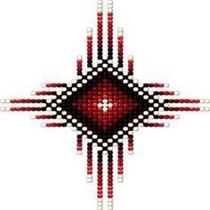 Native Beading Patterns, Beaded Earrings Patterns, Seed Bead Patterns, Native Beadwork, Native American Beadwork, Weaving Patterns, Native American Symbols, Native American Crafts, Bead Loom Bracelets