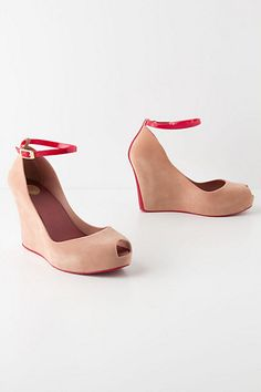Flocked Rain Wedges #anthropologie