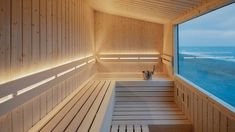 """The brief given to Native Narrative was """"to create a high-quality mobile sauna, and an optimal experience for the sauna enthusiasts who seek comfort, mobility and stylish functionality, including comfortable seating in different levels for pe. Scandinavian Saunas, Scandinavian Architecture, Scandinavian Design, Scandinavian Bathroom, Timber Cladding, Exterior Cladding, Mobile Sauna, Sauna House, Sauna Room"""