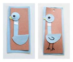how to make a pigeon bookmark for kids perfect for any Mo Willems Don't Let The Pigeon Drive The Bus books.