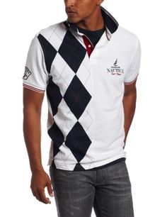 Nautica Men's Golf Coast Argyle Polo Shirt: