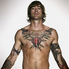 beautiful tattooed men | heart tattoos heart as a symbol is another form of popular tattoo is ...