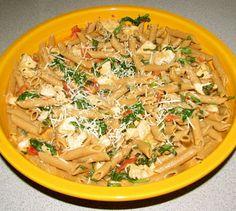 Creamy Pasta with Chicken and Sun Dried Tomato Pesto