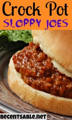 Have you ever made homemade Crock Pot Sloppy Joes? This recipe is quick and kid-friendly! Have you ever made homemade Crock Pot Sloppy Joes? This recipe is quick and kid-friendly! These Sloppy Joes are way better than the stuff from the can! Crock Pot Food, Crockpot Dishes, Crock Pot Slow Cooker, Beef Dishes, Slow Cooker Recipes, Beef Recipes, Cooking Recipes, Sloppy Joe Recipe Crock Pot, Crockpot Ground Turkey Recipes