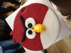 Logan's angry bird 3rd birthday cake
