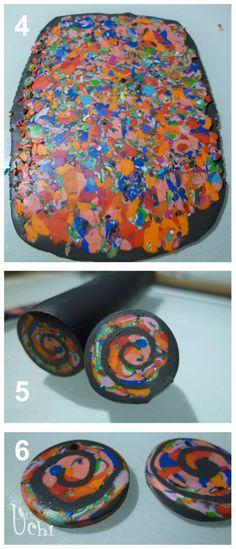 TUTORIAL Espiral recortes 02 - Arcilla polimérica, polymer clay | UCHI