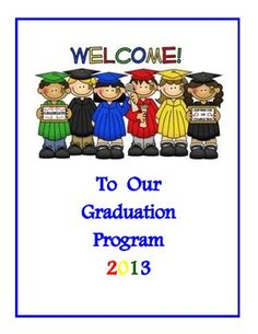 Kindergarten Graduation Program Templates Free Suyhi