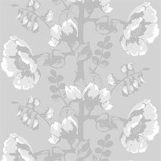 Silkkisuuko wallpaper - grey - Vallila Interior