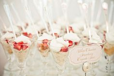 White chocolate strawberry cupcake shots | grey likes weddings