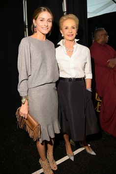 The Olivia Palermo Lookbook : New York Fashion Week Spring 2015 : Olivia Palermo at Carolina Herrera