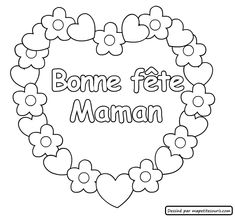 Looking for a Coloriage Fete Des M? We have Coloriage Fete Des M?res and the other about Gratuit Coloriage it free. Mothers Day Coloring Pages, Coloring Pages To Print, Free Coloring, Mother's Day Activities, Diy And Crafts, Crafts For Kids, French For Beginners, Diy Mothers Day Gifts, Puffy Paint