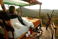 Out of this world honeymoon! star beds in kenya #love
