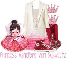 """""""Princess Vanellope Von Schweetz"""" by jami1990 ❤ liked on Polyvore"""