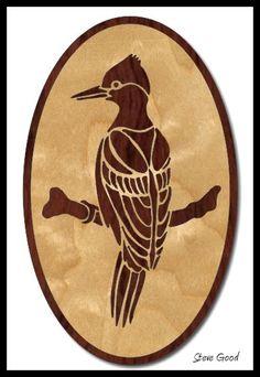Scrollsaw Workshop: Woodpecker Scroll Saw Pattern free download