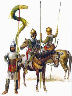 Guerrieri sarmati (di origine iranica ma stanziati tra l'ungheria e la russia)si trovarono più volte contro i romani sul limes Danubiano anche durante le guerre Daciche