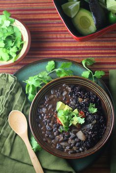 Black Bean Soup with Forbidden Rice