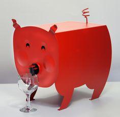 Piggy Wine Decanter!