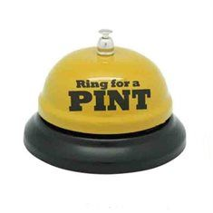 Man Cave Ideas - Beer Bell - 'Ring for a Pint' - Bar Accessories - Gifts for Him at The Furniture Store