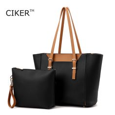 CIKER New Arrival Leather Tote Bags Autumn and Winter Top-Handle Bags Simple Women Shoulder Bag purses and Handbags big capacity