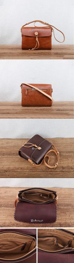 $193 Brown Leather Shoulder Bag Womens Leather Handbags