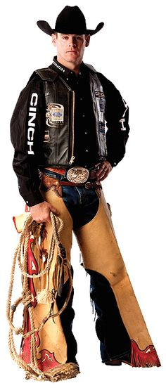 Ross Coleman. (Little-known, funny fact about the now-retired bull rider: when he first started riding professionally, he had to order his vest extra long because of his taller upper-half. Cody Lambert will never forget that, lol.)