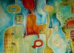 Rodinka Obraz pochází z nové kolekce obrazů vytvořených kombinovanou technikou, kterou jsme si upravila sobě na míru. Od kresby oblíbenými akvarelovými pastely jsem došla ke klasickému akvarelu. Akvarelové barvy jsou zkombinovány s akvarelovým pastelem, který po nastrouhání a rozpuštění ve vodě slouží jako běžné akvarelové barvy, pouze je sytější a ve větší ...
