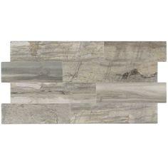 Light Leona Silver Tile 6x24 Industrial Basement