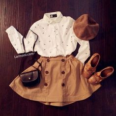 Hipster-Mädchen Outfits – - New Site Mode Outfits, Fall Outfits, Casual Outfits, Fashion Outfits, Womens Fashion, Casual Ootd, Fashion Clothes, Dress Fashion, Church Outfits