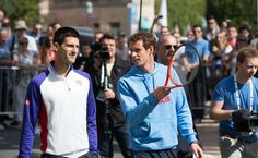 Andy Murray si Novak Djokovic au jucat minitenis la Monte Carlo