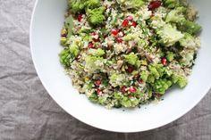Bulgur Salat mir Romanesco und einem Za'atar-Honig-Dressing