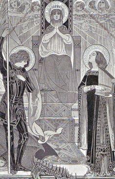 Ezio Anichini serie Immagini sacre - 34. Regína Sanctórum ómnium