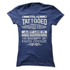 TATTOOED REGISTERED NURSE - AMAZING T SHIRTS T-Shirt Hoodie Sweatshirts eeu. Check price ==► http://graphictshirts.xyz/?p=77765
