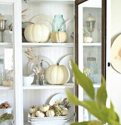 Craftberry Bush: White Pumpkin Fall hutch
