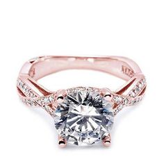 TACORI ROSE GOLD ENGAGEMENT RING love the infinity band, the stone, the colour!