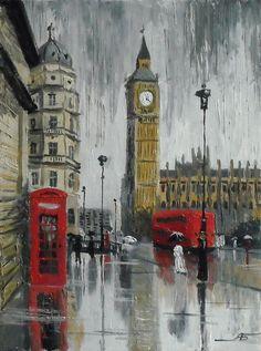 Big Ben.  De una serie de lluvia de Londres (519x700, 398KB)