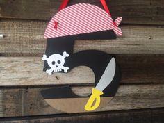 Pirata fiesta papel signo-en la fiesta de por BlueOakCreations